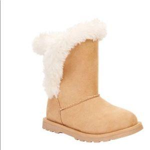 Calistoga Vegan Suede Faux Fur Mid Calf Boots